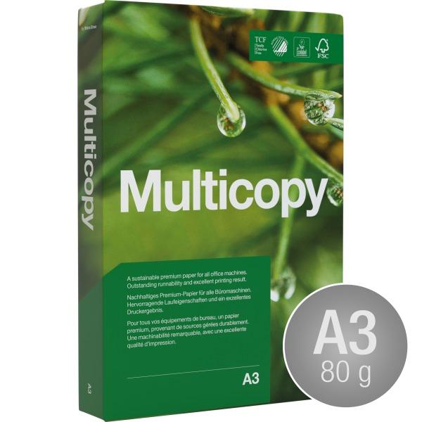 Multicopy Kopipapir A3/80g/500ark
