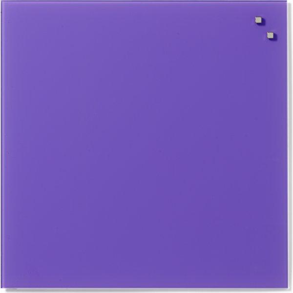 Glassboard magnetisk glastavle 45x45 cm stærklilla