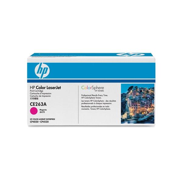 HP CE263A lasertoner, rød, 11000s