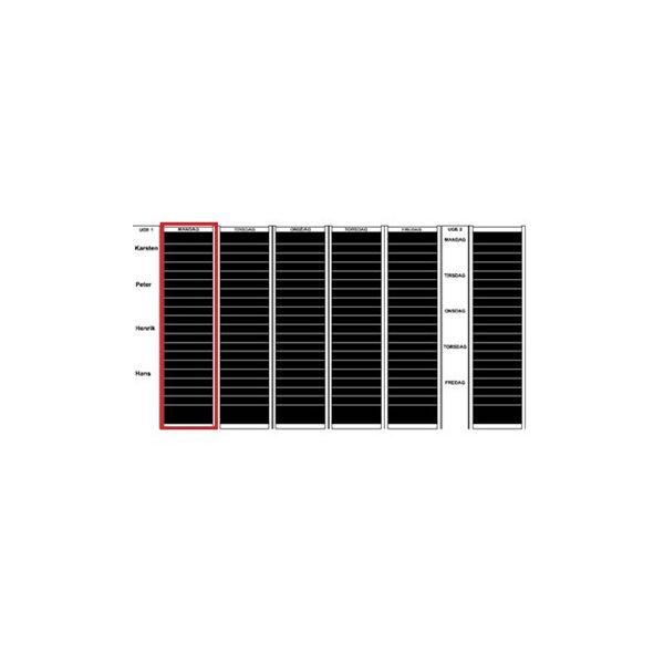 Plan-dex kortmodul A5-højformat, 60mm, 12 stk