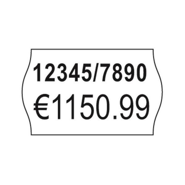 Prisetiketter til prismærkningsmaskine double hvid