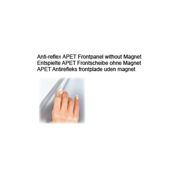 Antirefleks frontplade A4 u/magnet