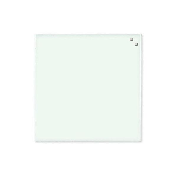 Glassboard magnetisk glastavle 45 x 45 cm, hvid