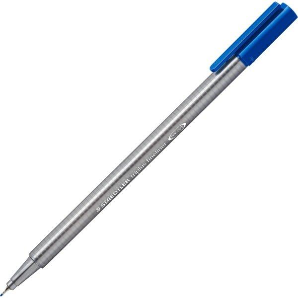 Staedtler Triplus 334-3 fineliner fiberpen, blå