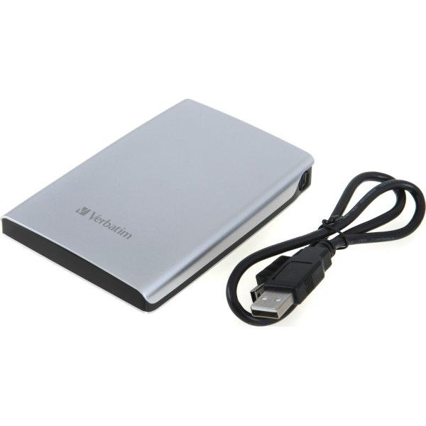 "Verbatim Store 'N' Go 2,5"" 500GB USB 3.0, sølv"