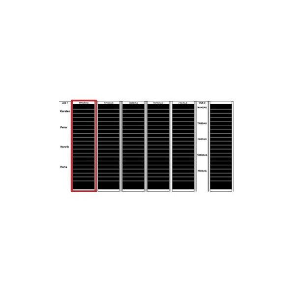 Plan-dex kortmodul A5 tværformat 40 mm, 27 stk
