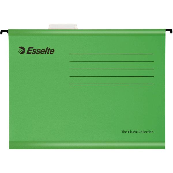 Esselte Standard hængemapper folio, grøn
