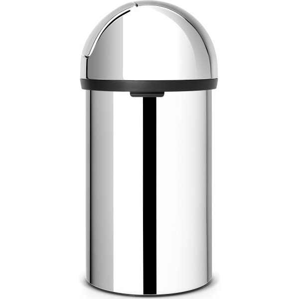 Brabantia Push Bin 60 liter, blank stål