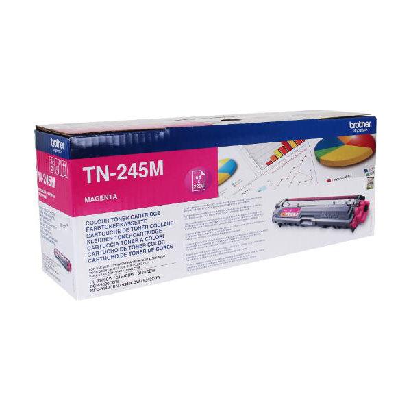 Brother TN245M Lasertoner, magenta, 2200 s.