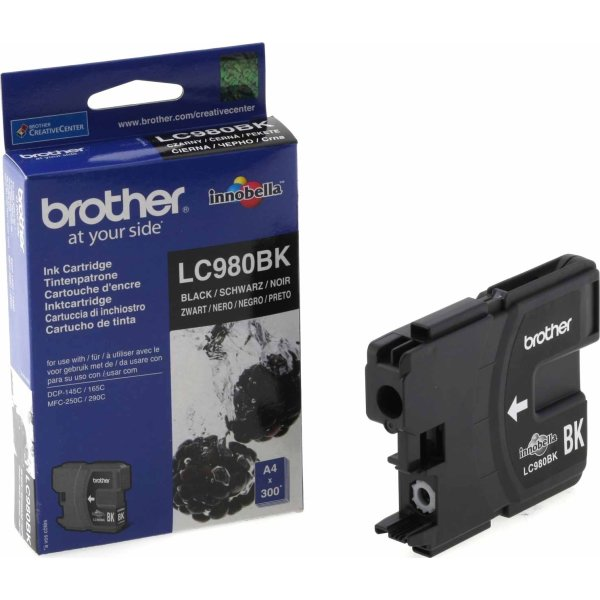 Brother LC980BK blækpatron, sort, 300s