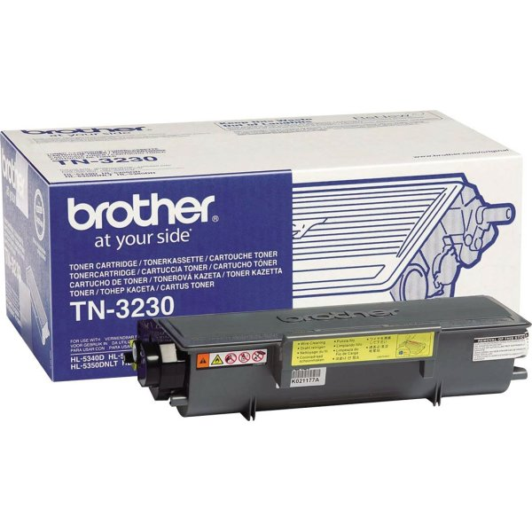 Brother TN3230 lasertoner, sort, 3000s