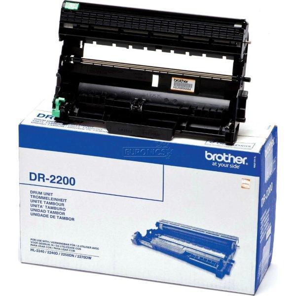 Brother DR2200 lasertromle, sort, 12000s