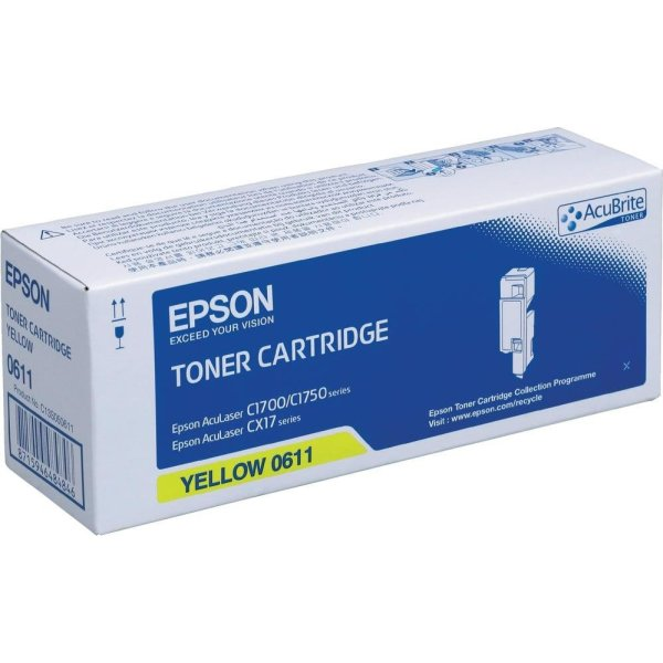 Epson C13S050611 lasertoner, gul, 1400s