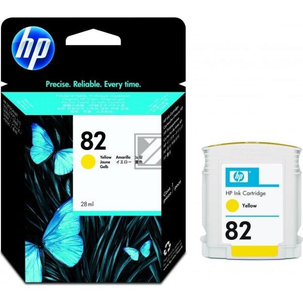 HP nr.82/CH568A blækpatron, gul, 28 ml