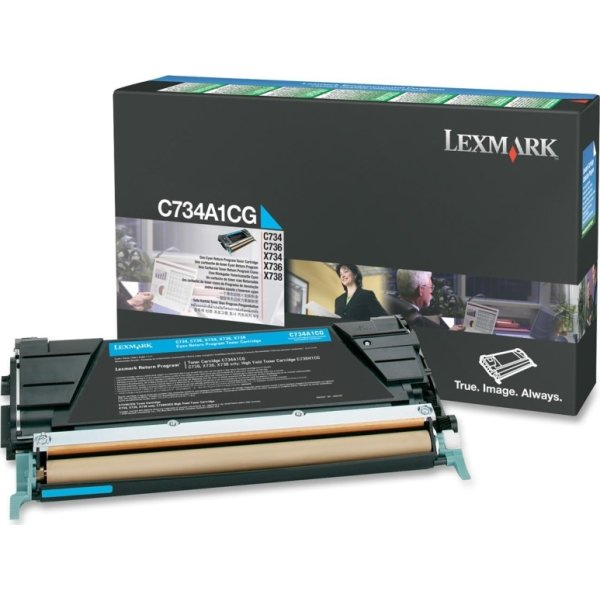 Lexmark C734A1CG lasertoner, blå, 6000s
