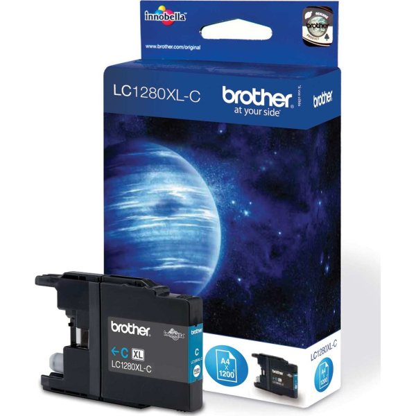 Brother LC1280XL blækpatron, blå, 1200s