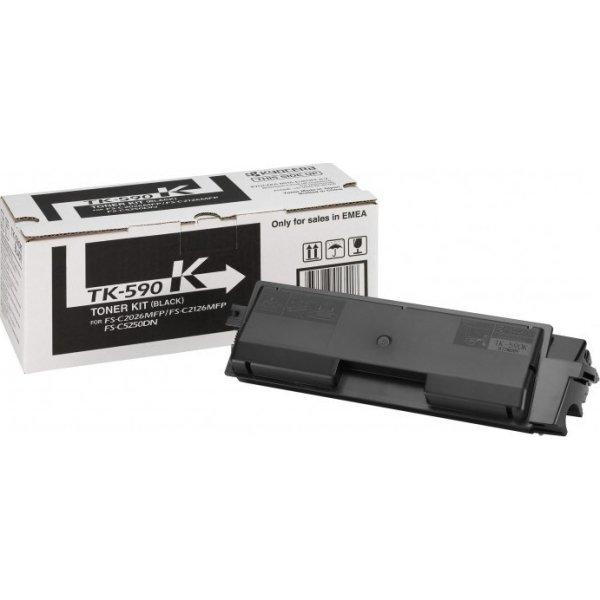 Kyocera TK-590K lasertoner, sort, 7000s