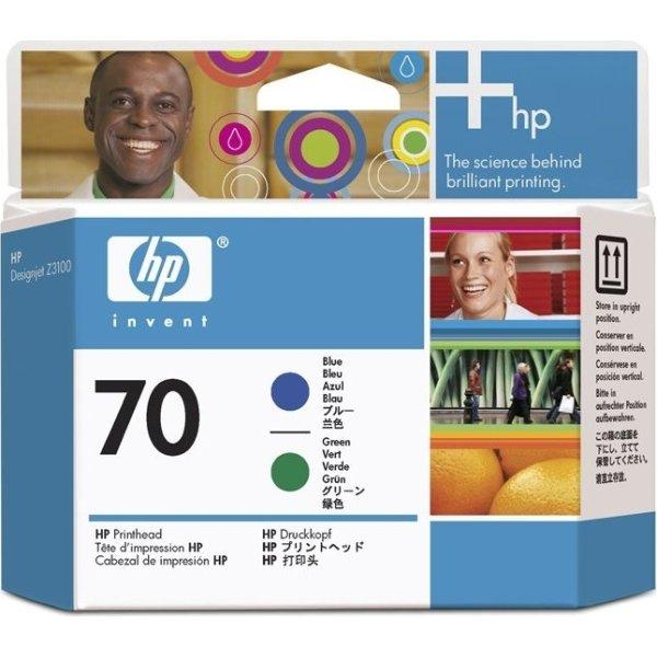 HP nr.70/C9408A printhoved, blå og grøn