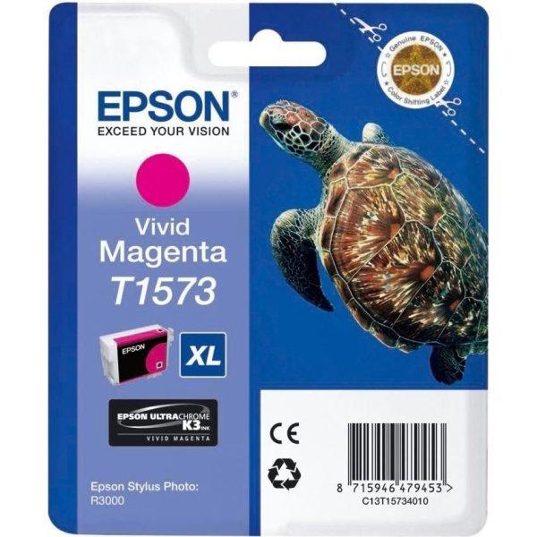 Epson nr.T1573/C13T15734010 blækpatron, rød, 26ml