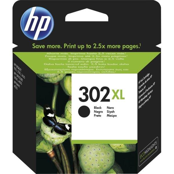 HP nr.302XL blækpatron, sort, 480s.