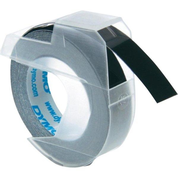 Dymo 3D prægetape 9mm, hvid på sort