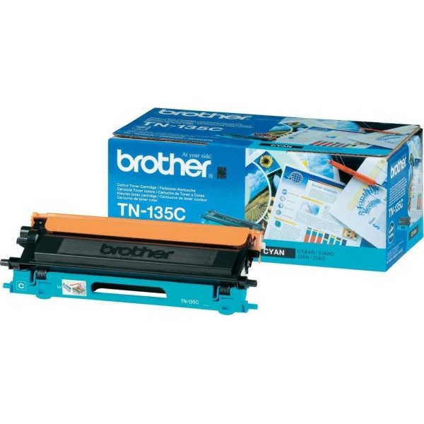 Brother TN135C  lasertoner, blå, 4000s