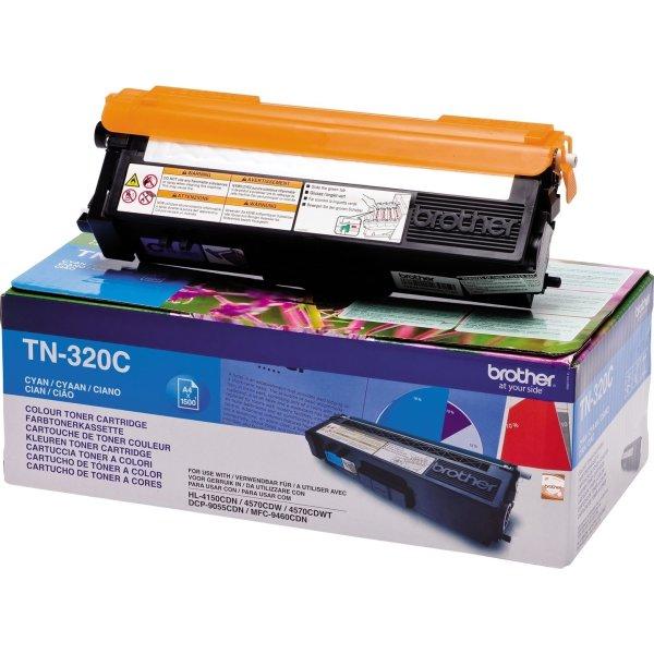 Brother TN320C lasertoner, blå, 1500s