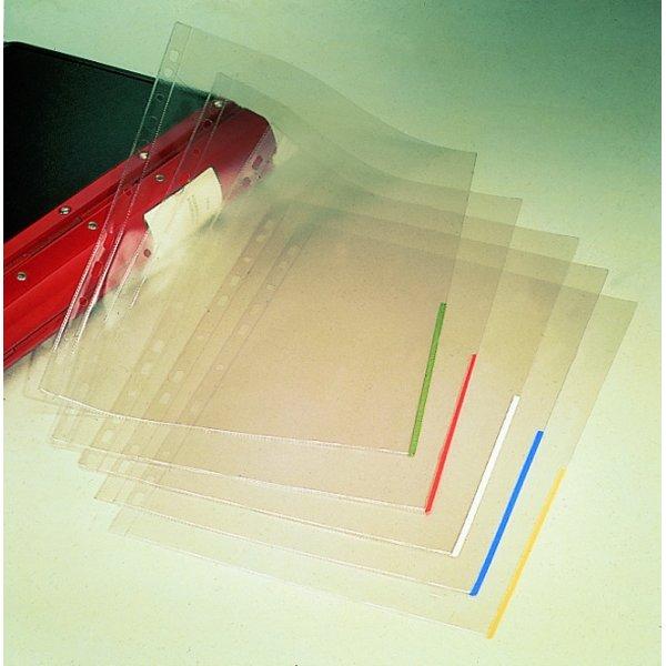 Esselte signallomme A4, PP, top+højre, 100stk,hvid