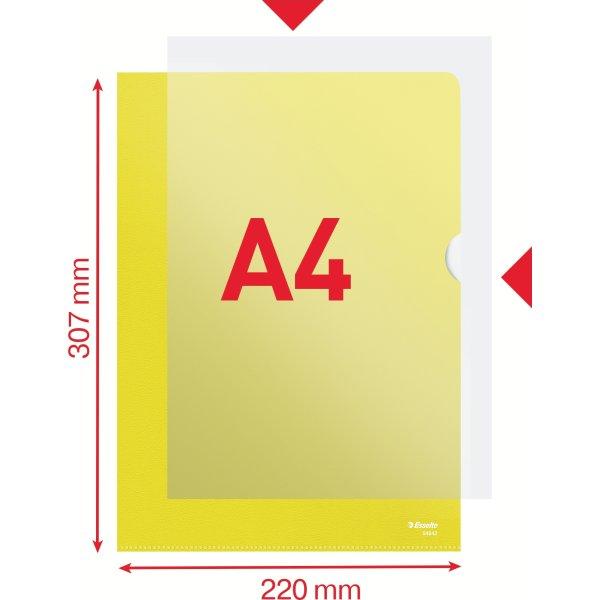 Esselte Copysafe chartek, A4,  0,11mm, 100stk, gul