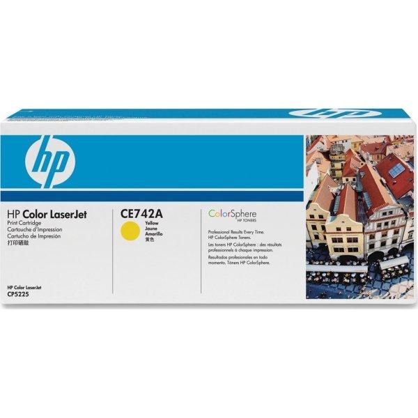 HP CE742A lasertoner, gul, 7300s