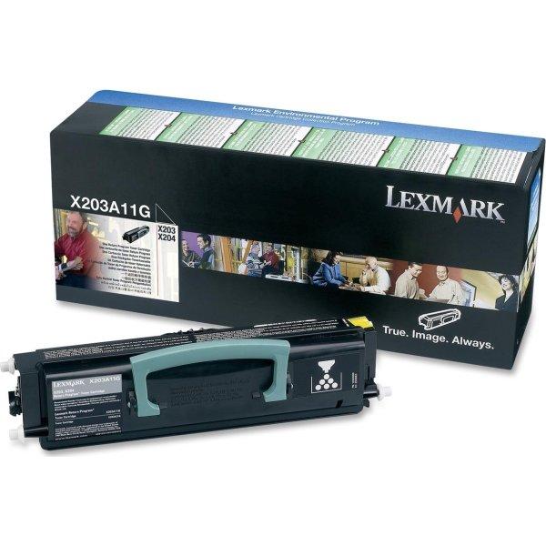 Lexmark X203A11G lasertoner, sort, 2500s
