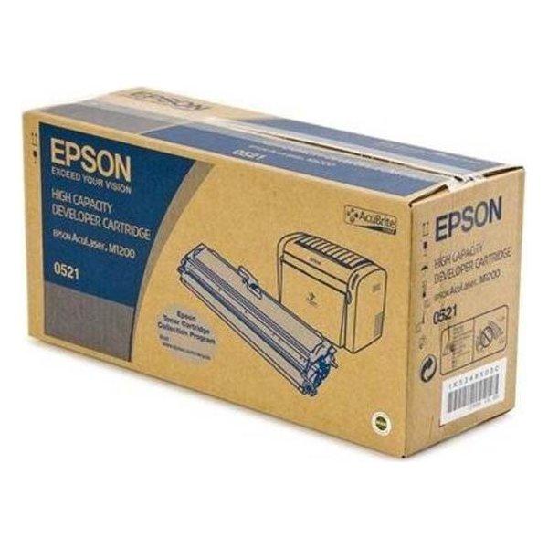 Epson C13S050521 lasertoner, sort, 3200s