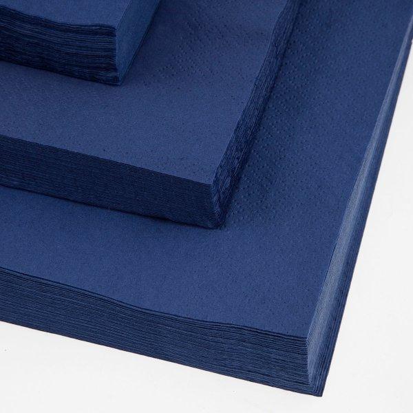 Servietter 2-lags, 40 x 40cm, 100stk, blå