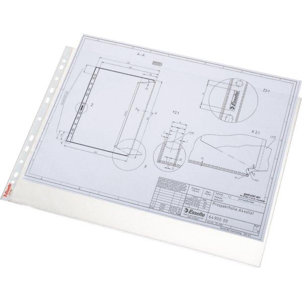 Esselte Premium plastlomme, A3 tværf. top, 0,09mm