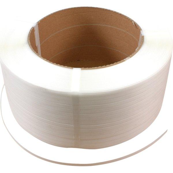 Maskinbånd PP Ø280 mm, 130 kg, hvid, 2800 m