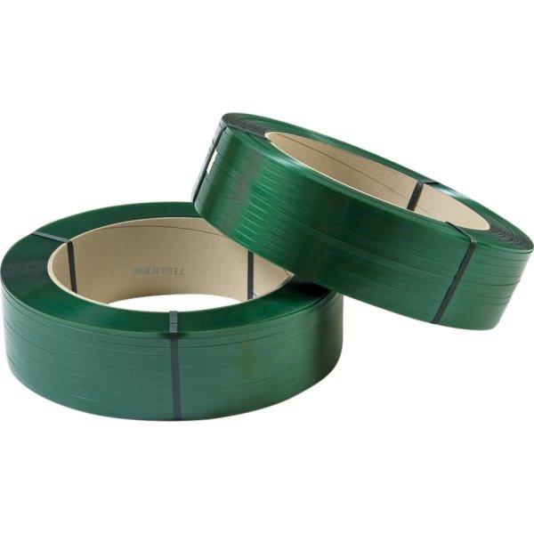 Maskinbånd PET Ø406 mm, 470 kg, grøn, 1750 m