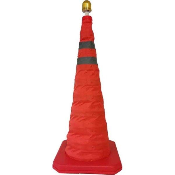 Zmartgear advarselskegle m. lys, Rød