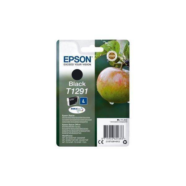 Epson nr.T1291/C13T12914012 blækpatron, sort, 415s