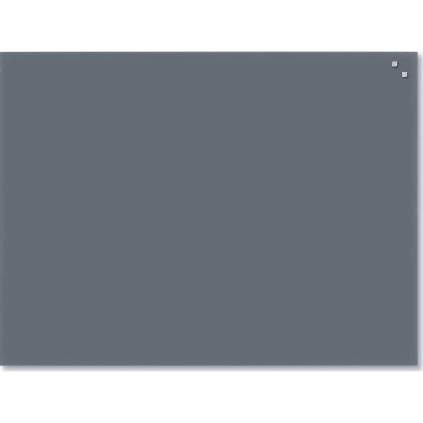 Glassboard magnetisk glastavle 60x80 cm, grå