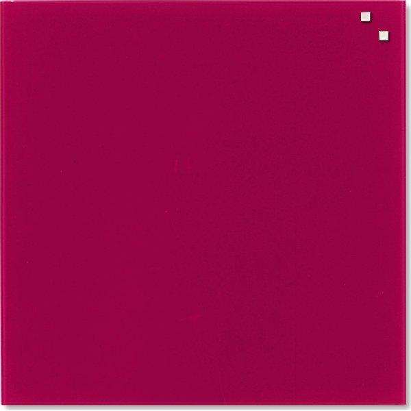 Glassboard magnetisk glastavle 45 x 45 cm, rød