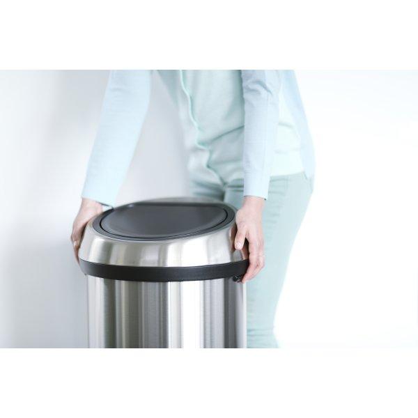 Brabantia Touch Bin 60 L, matt black FPP lid