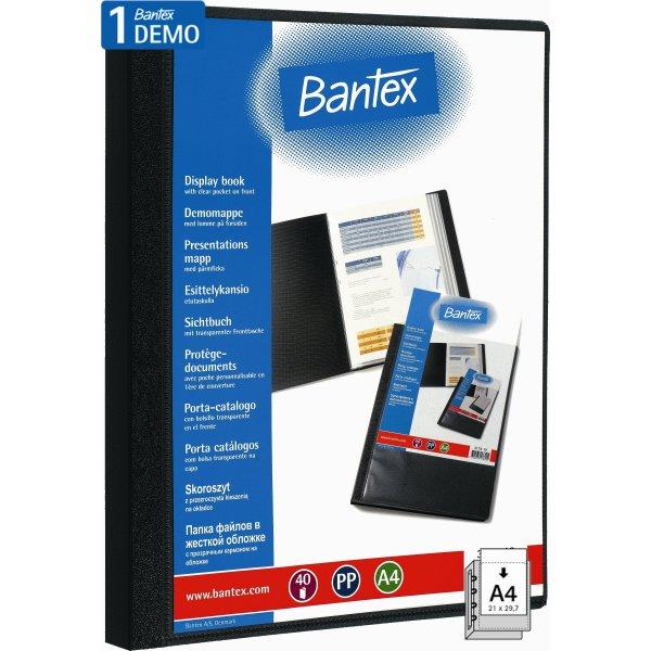 Bantex demomappe A4, PP, med 40 lommer, sort