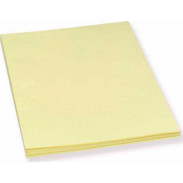 Bantex konceptpapir gult, ulinjeret, 250 stk.