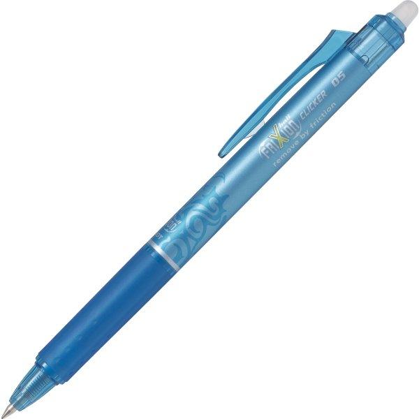 Pilot Frixion Clicker kuglepen, 0,5 mm, lyseblå