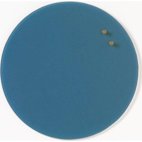 NAGA magnetisk cirkel glastavle, 35 cm, blå
