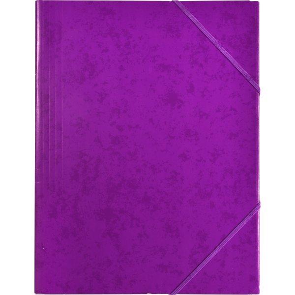 Budget elastikmappe, karton, lilla