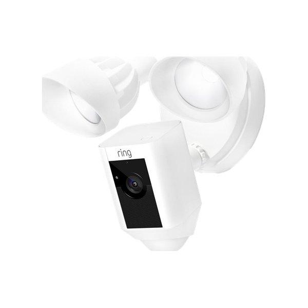 Ring HD overvågningskamera m. sirene/lamper, hvid