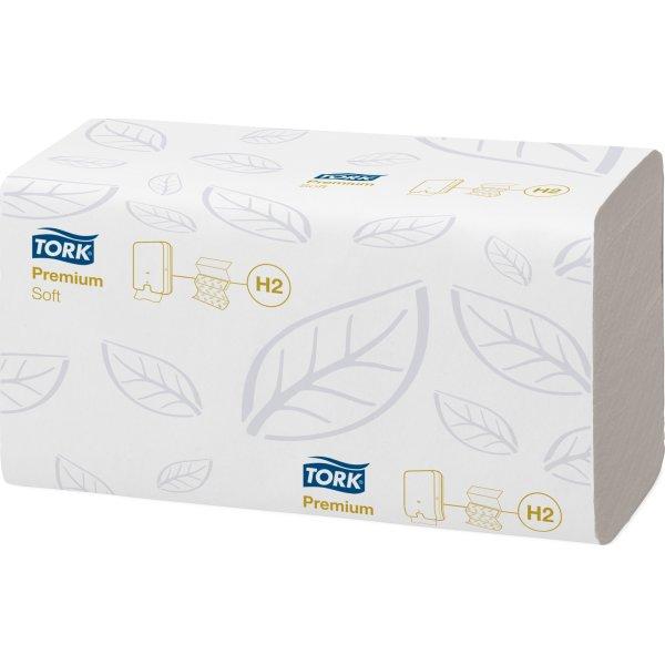 Tork H2 Xpress Premium Håndklædeark, 4-fold, 21 pk