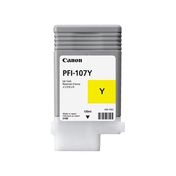 Canon PFI-107 blækpatron, gul, 130 ml.