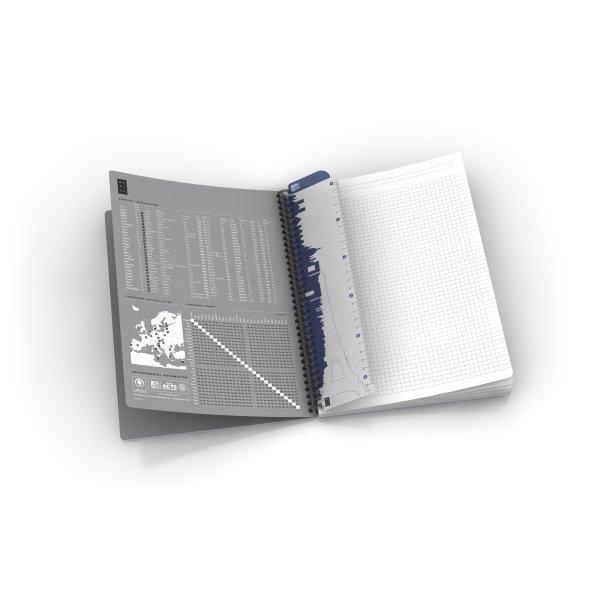 Oxford Smart Black Spiralbog A4, kvadreret, sort